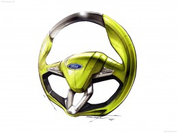2009 Ford iosis MAX Concept Steering Wheel Design Sketch