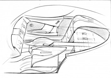 Morgan SP1 - Interior Design Sketch