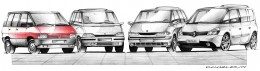 Renault Espace History Design Sketches