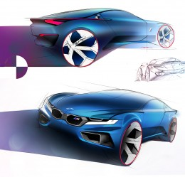 BMW Concept Design Sketches by Konrad Cholewka
