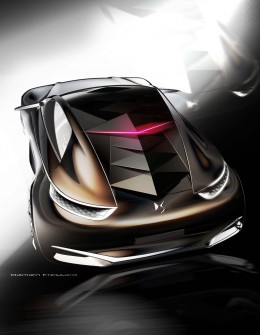 Citroen Divine DS Concept - Design Sketch by Damien Fressard