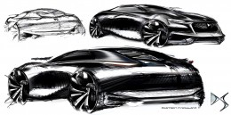 Citroen Divine DS Concept - Design Sketches by Damien Fressard
