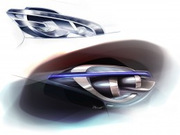 Peugeot 208 Headlight design sketches