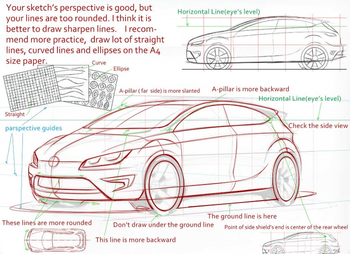 Car Design Academy - Design Sketch review