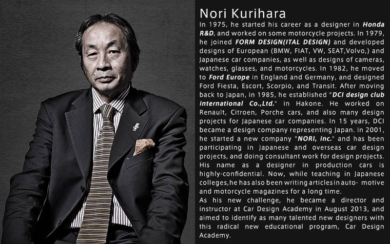Car Design Academy supervisor Nori Kurihara