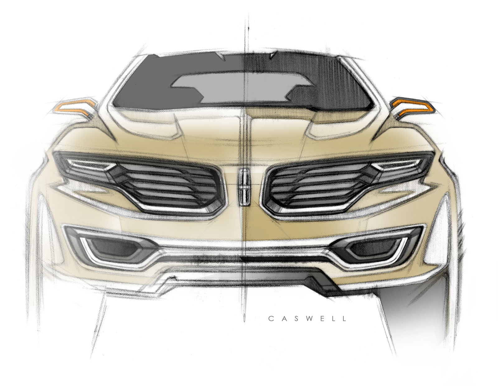 lincoln mkx concept front view design sketch car body