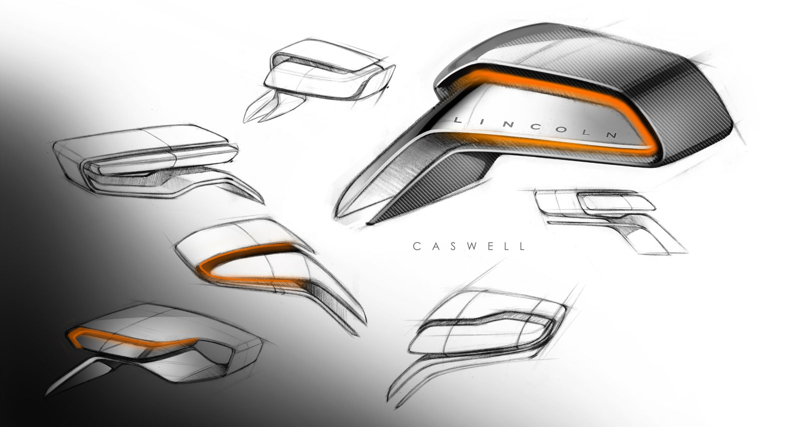 Lincoln Mkx Concept Sideview Mirror Ideation Design Sketches Car Body Design