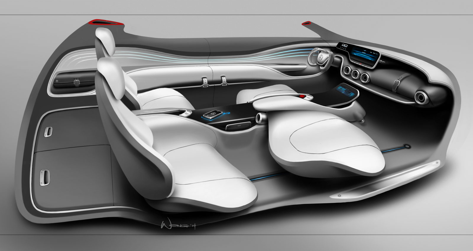 Mercedes benz vision g code concept interior design - Car interior design ...