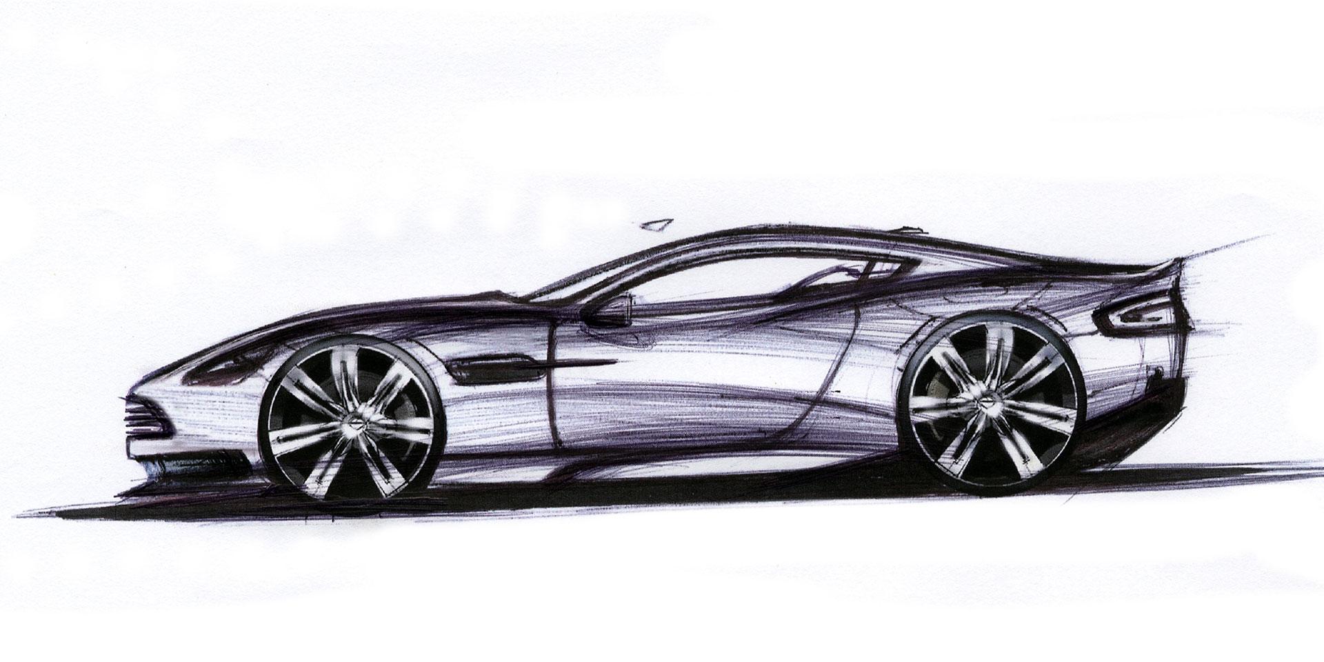 Aston Martin Dbs Casino Royale 007 Car Design Sketch