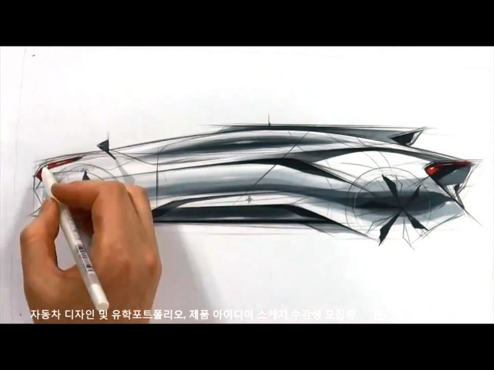Car sketch and design video