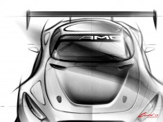 Mercedes-AMG GT3: preview sketches