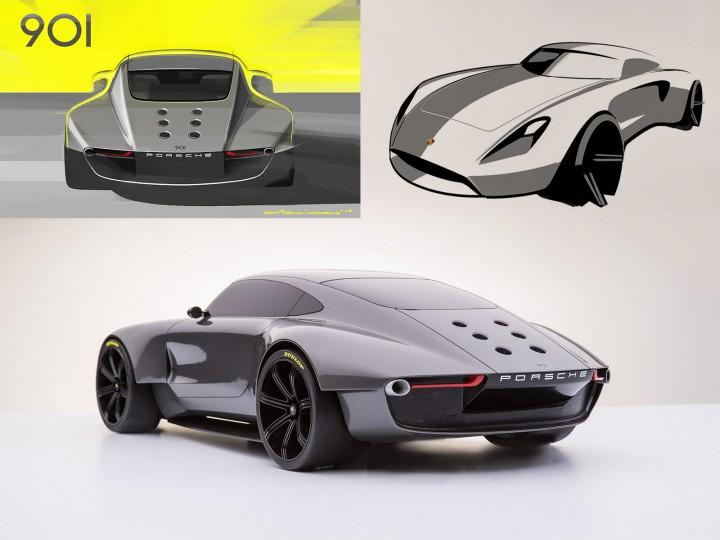 porsche 901 concept car body design
