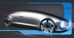 Mercedes-Benz F015 Luxury in Motion Design Sketch Render