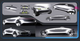 Mercedes-Benz F015 Luxury in Motion Design Sketches