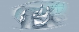 Mercedes-Benz F015 Luxury in Motion Interior Design Sketches
