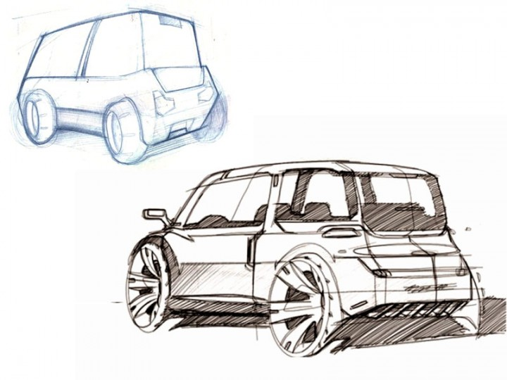 Sketching cars is a matter of exercise - Car Body Design