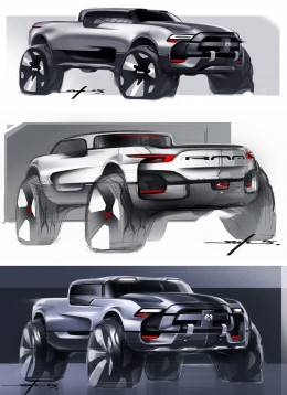 Dodge RAM Concept Design Sketches by Young-Joon Suh