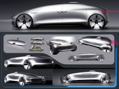 Mercedes-Benz F015 Luxury in Motion: design gallery
