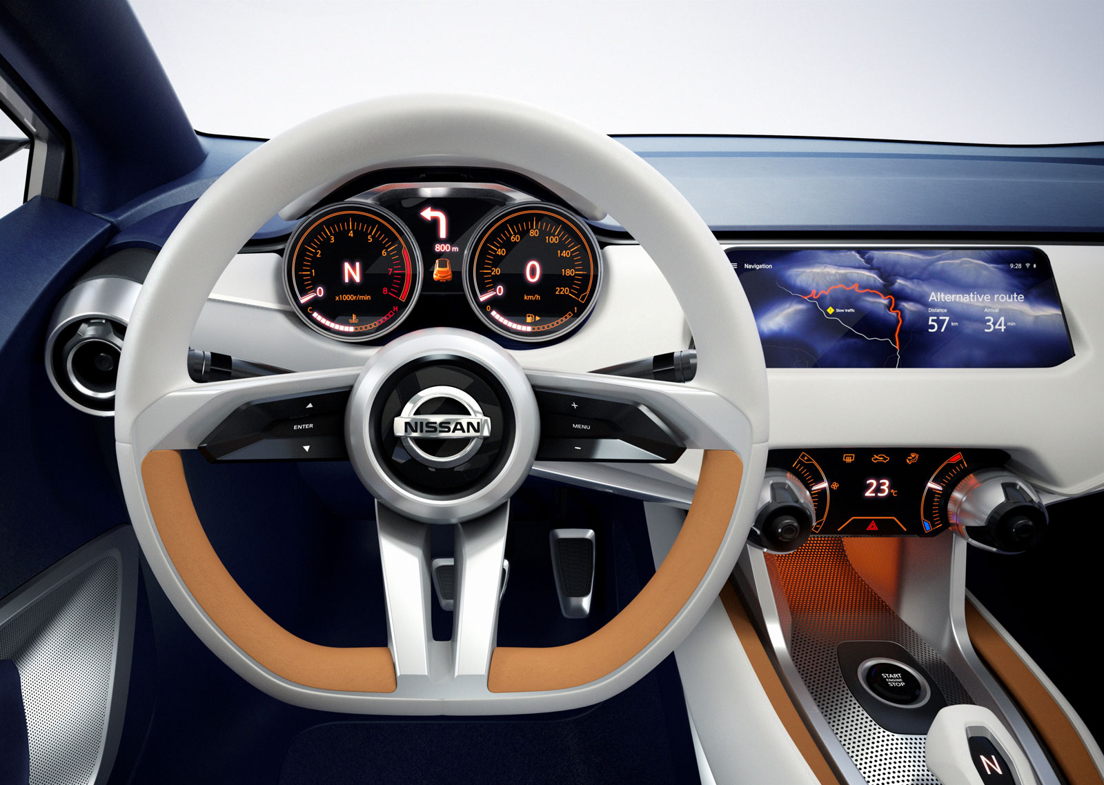 nissan sway concept interior steering wheel car body design. Black Bedroom Furniture Sets. Home Design Ideas