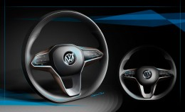 VW Sport Coupe Concept GTE Interior Design Sketch Steering Wheel