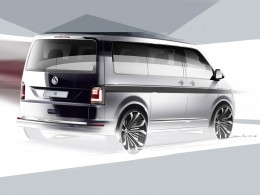 Volkswagen sixth-gen Transporter - Preview Design Sketch Render