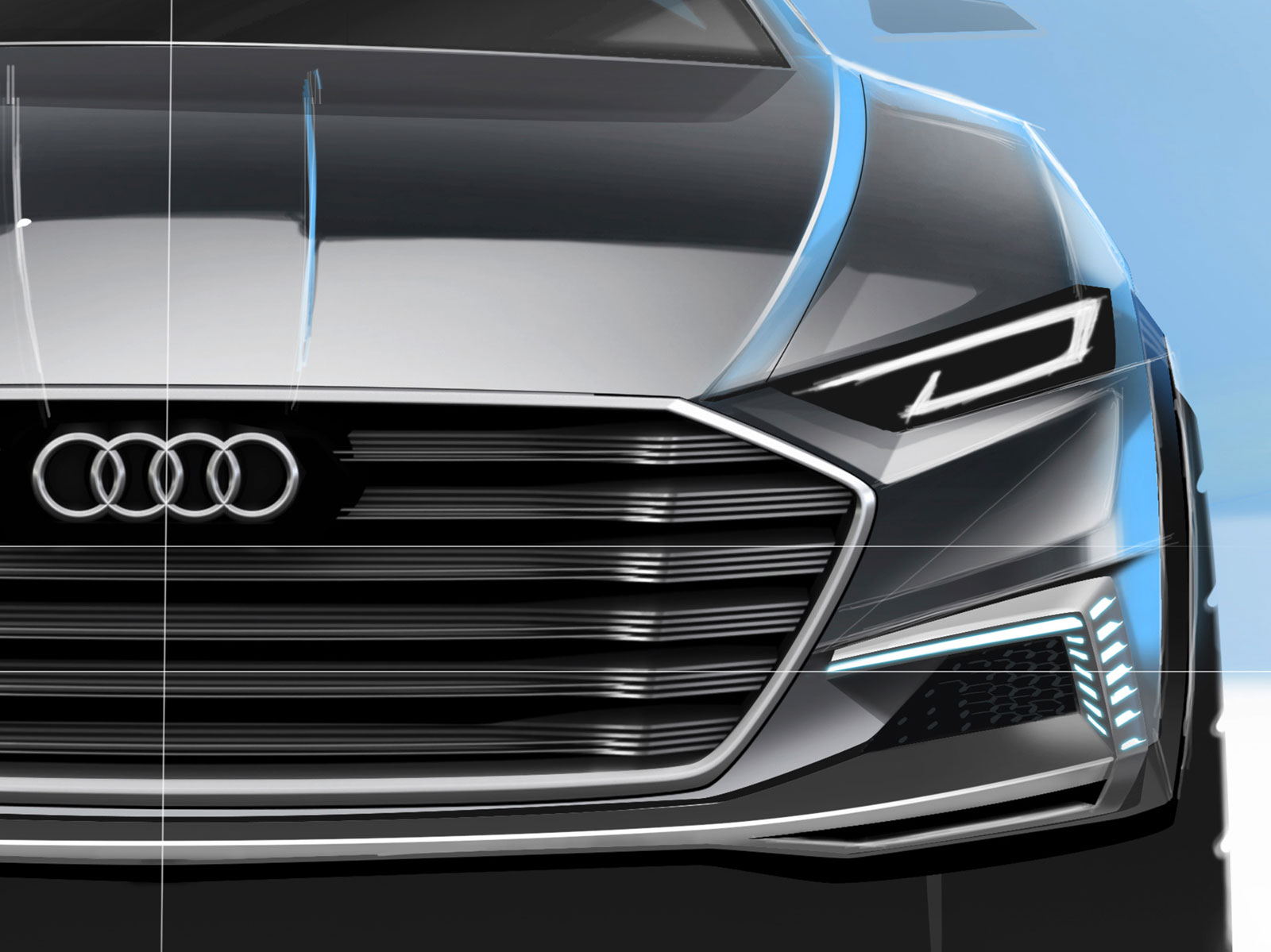 Audi Prologue Allroad Concept Design Sketch Render