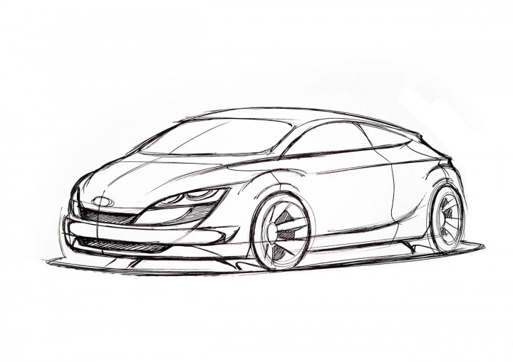 car design academy drawing by student - Car Design
