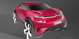 Citroen AirCross Concept Digital Design Sketch