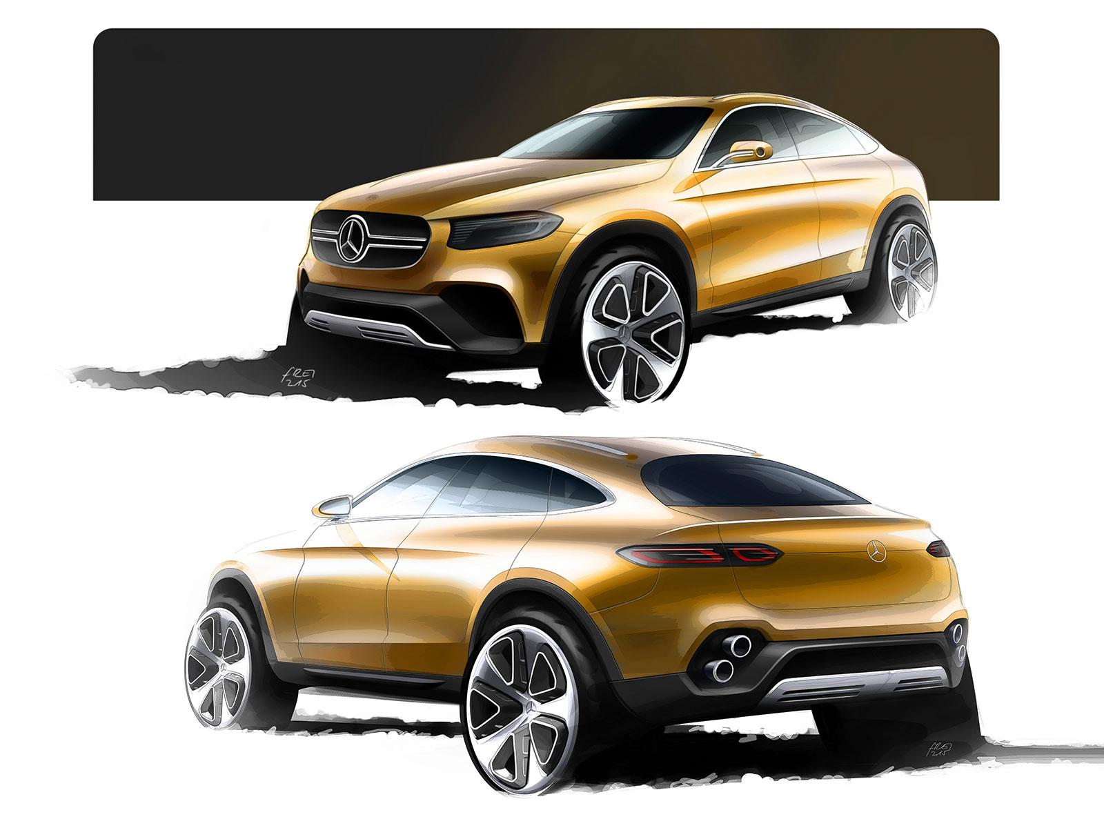 Mercedes benz concept glc coupe design sketches car for Mercedes benz concept coupe suv interior