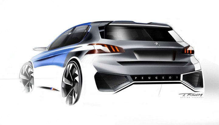 Cool Peugeot 308 R HYbrid Concept Design Sketch By Thomas Rohm