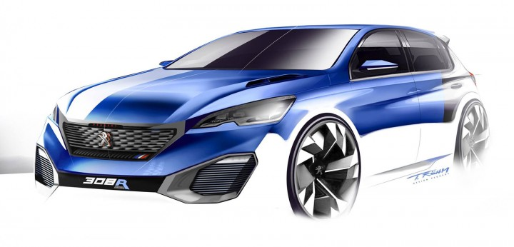 peugeot 308 r hybrid concept car body design. Black Bedroom Furniture Sets. Home Design Ideas