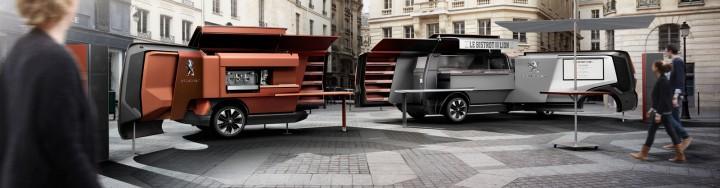 peugeot design lab creates foodtruck mobile restaurant car body design. Black Bedroom Furniture Sets. Home Design Ideas