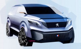 Peugeot Foodtruck Concept Design Sketch Render