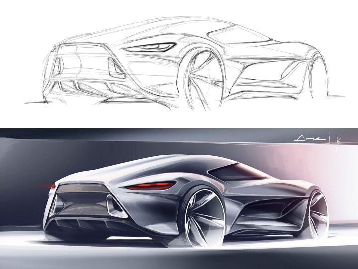 Lexus Flying Car >> Sketchover #7 – Car rendering in Photoshop - Car Body Design