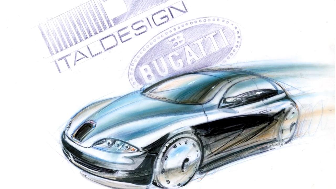 Bugatti Design Sketch by Giorgetto Giugiaro - Car Body Design