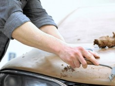 Clay modelers shape the future of auto design