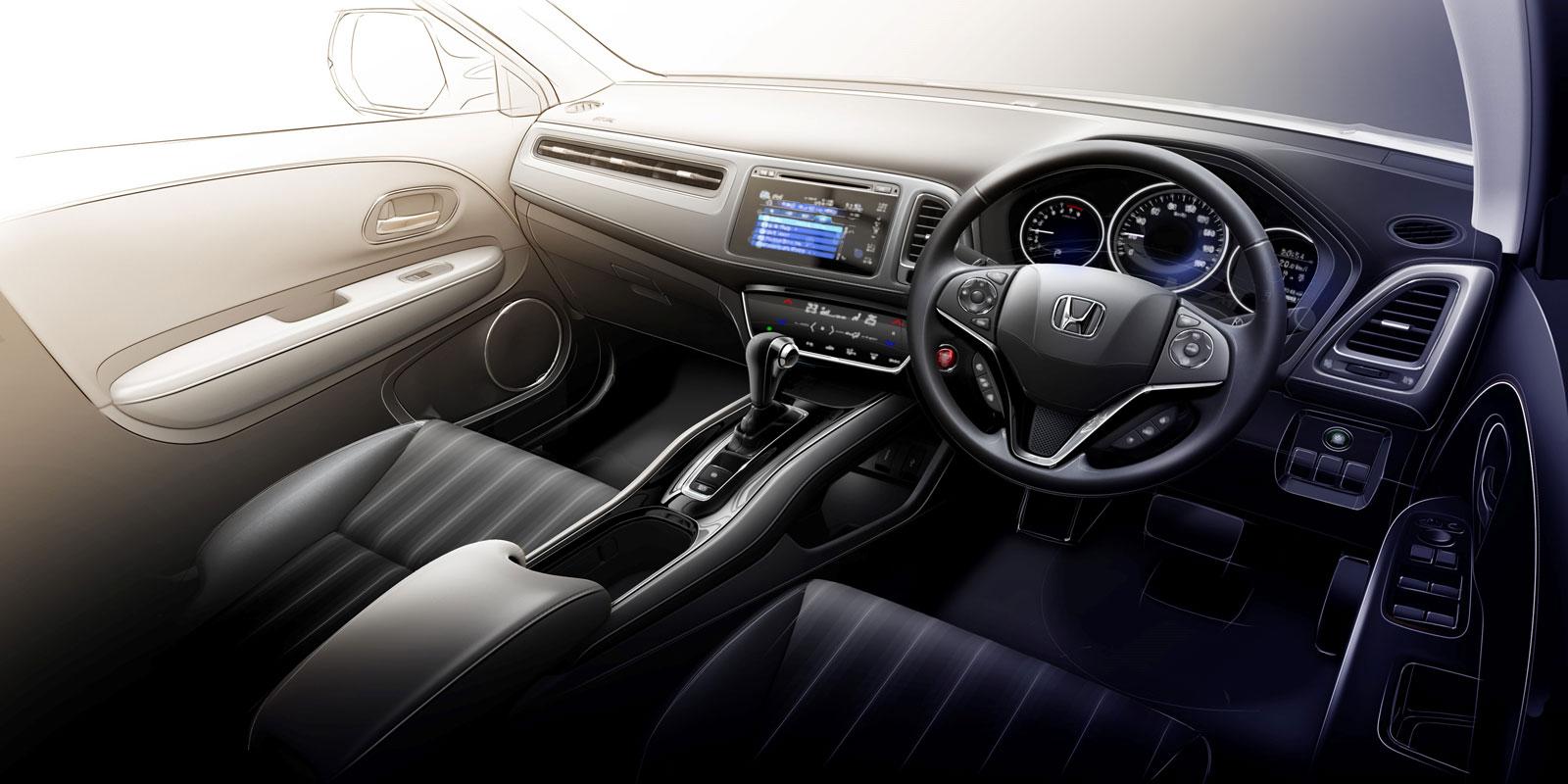 Honda hr v interior design sketch render car body design for Hr design interiors
