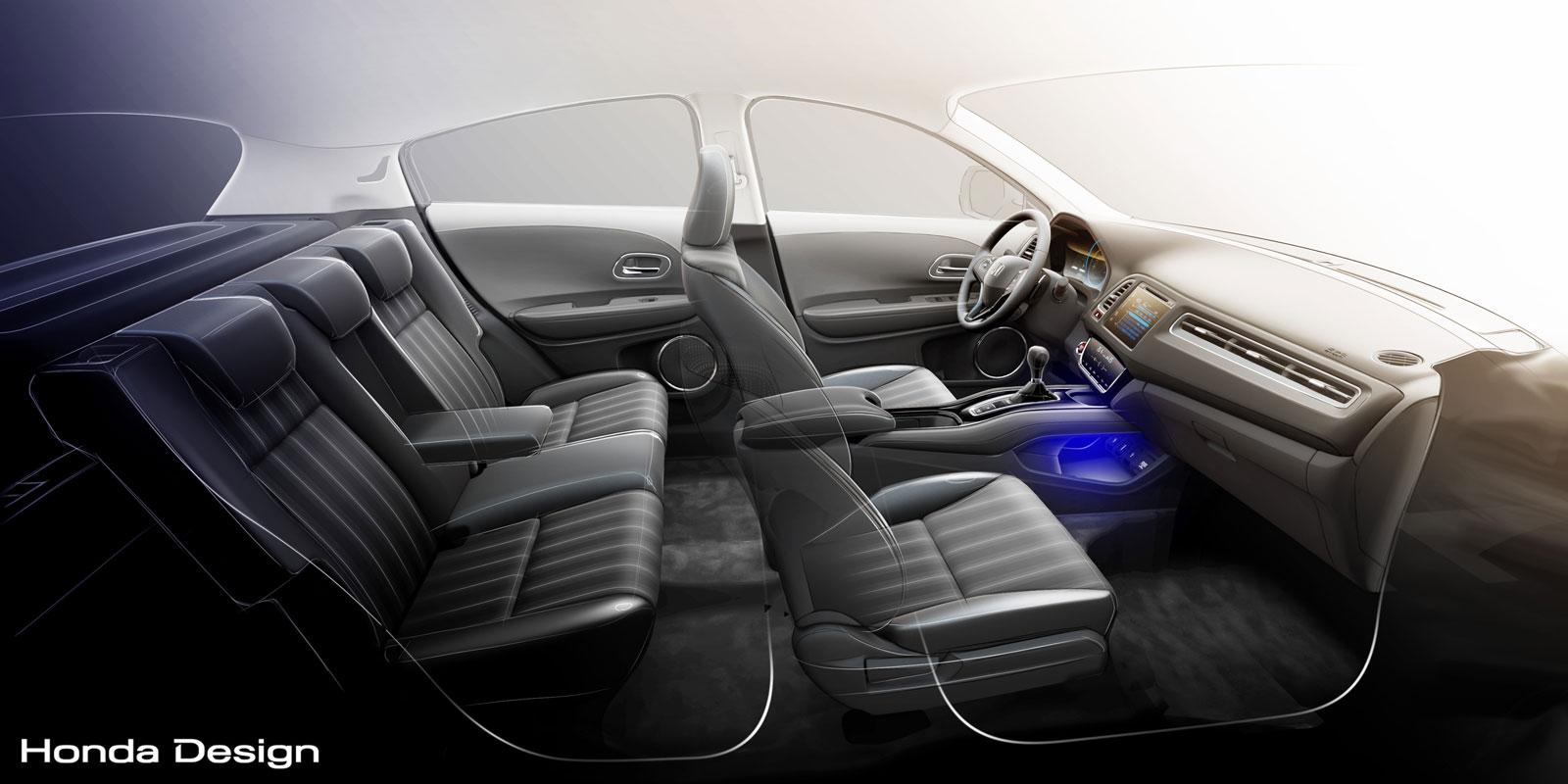 honda hr v interior design sketch render car body design