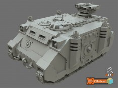 Modeling-a-40K-Rhino-Tank-in-Zbrush-4R7-using-ZModeler