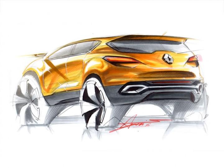 SUV Rear View Sketch And Rendering Demo - Car Body Design