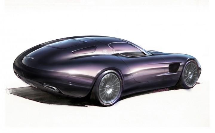 Zagato Maserati Mostro Concept Design Sketch X