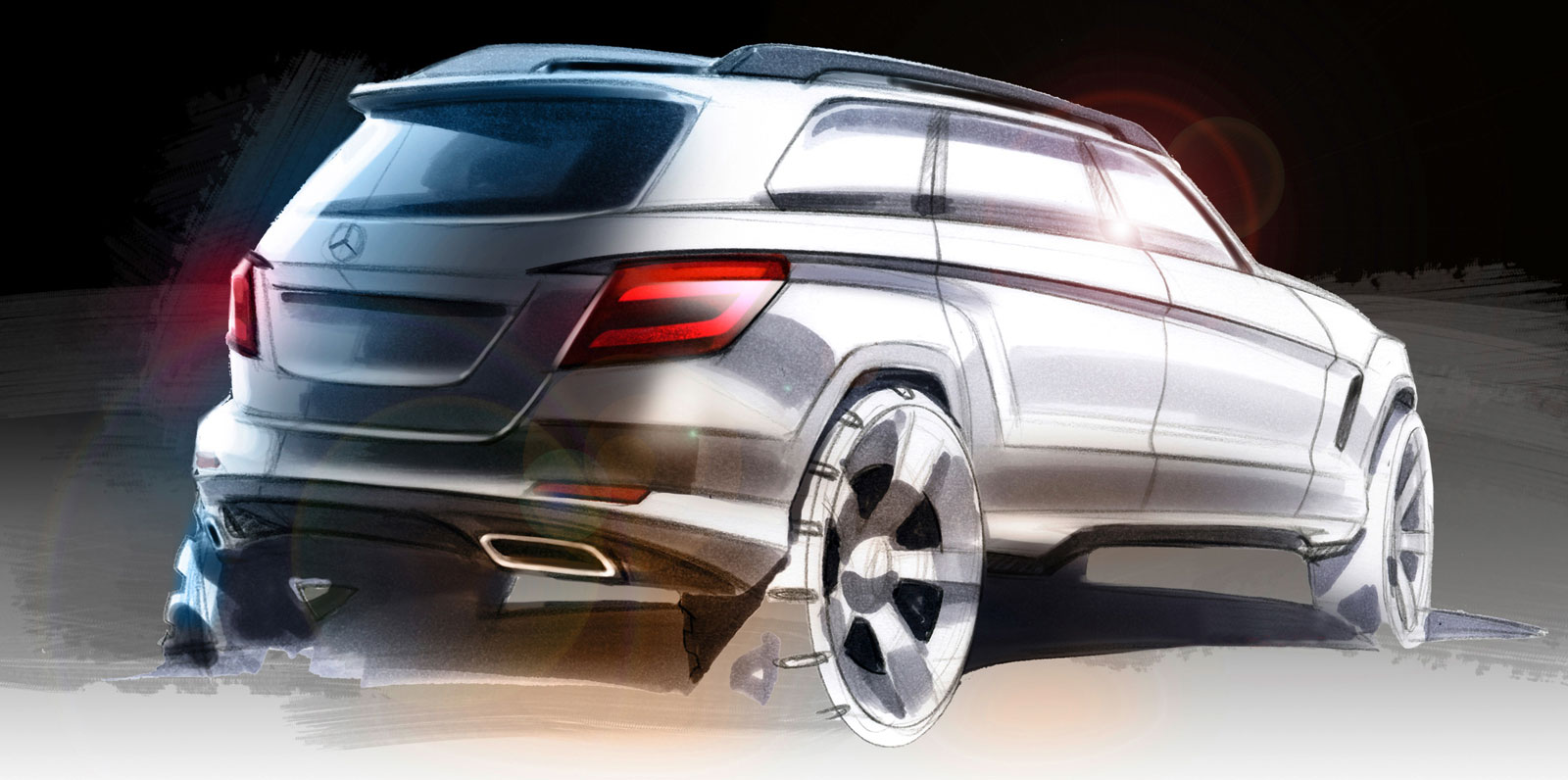 2008 mercedes benz glk design sketch car body design for 2008 mercedes benz truck