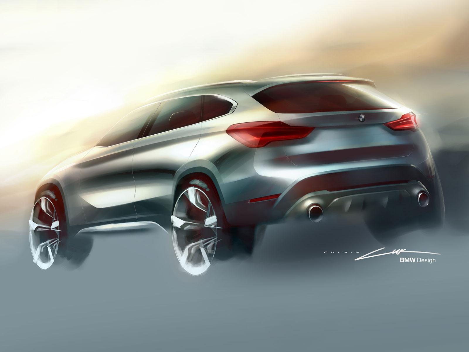 2016 BMW X1 - Design Sketch - Car Body Design