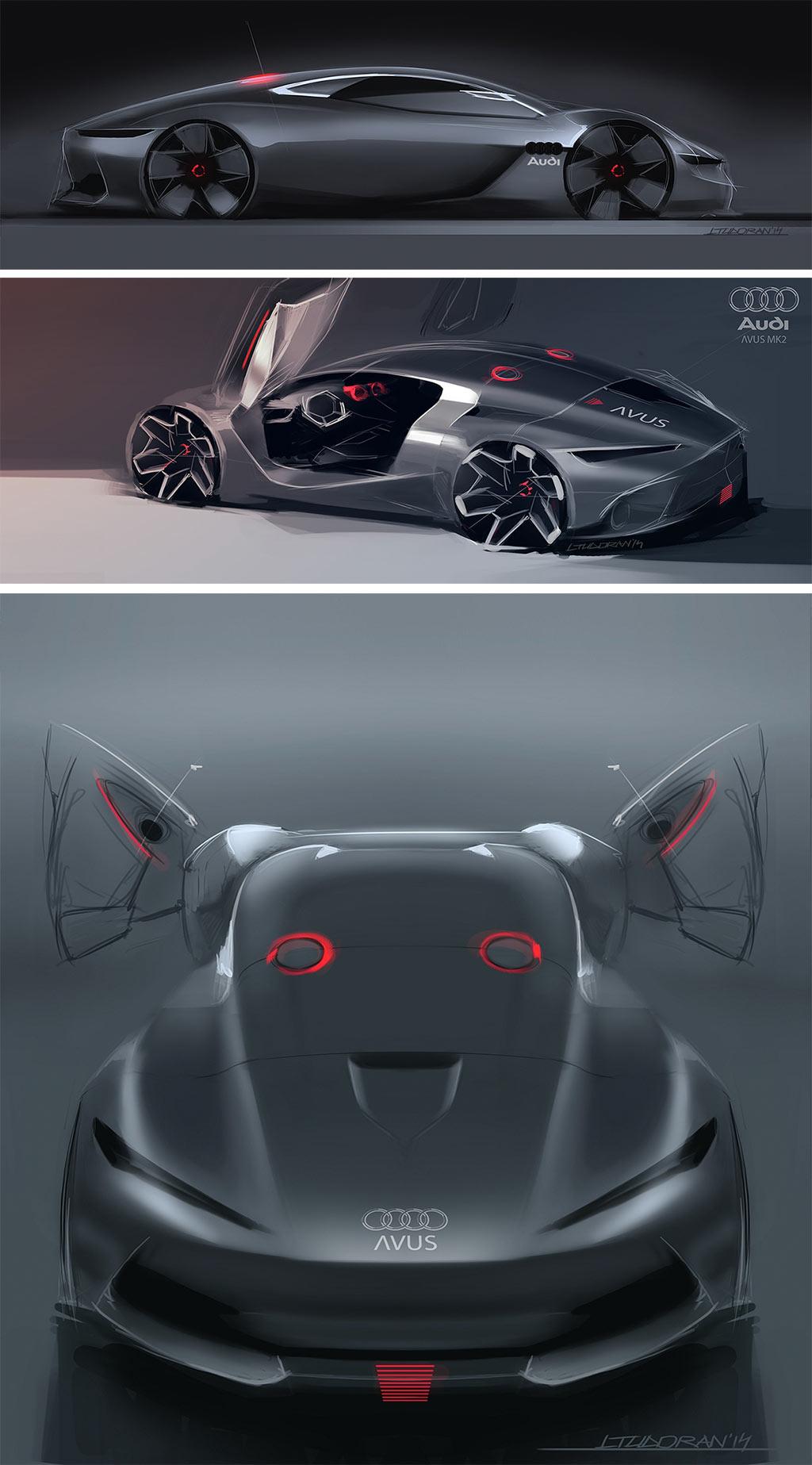 Audi Avus Mkii Concept Design Sketches By Liviu Tudoran