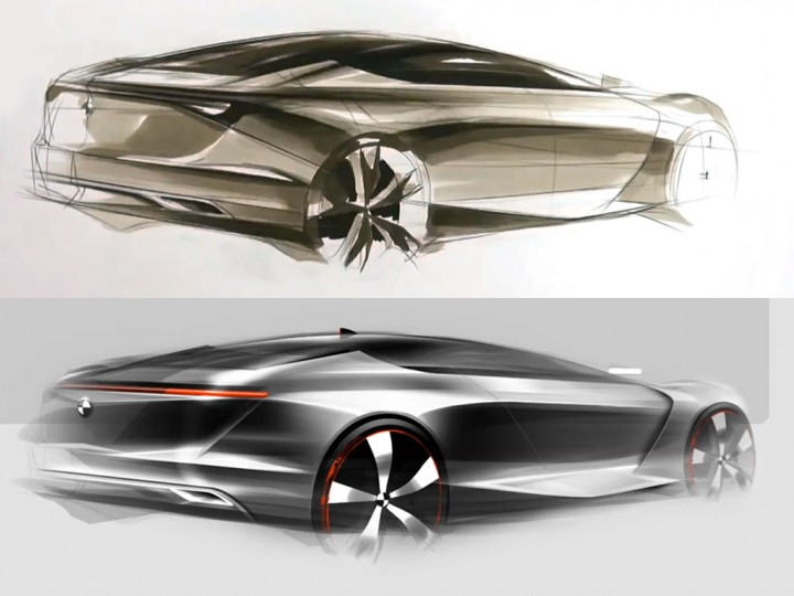 Car Rendering Using Markers And Photoshop Car Body Design