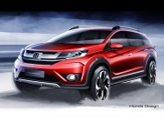 Honda BR-V: preview design sketches