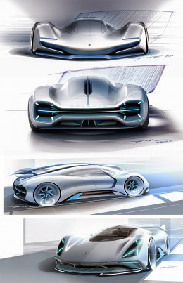 Porsche Electric Le Mans 2035 Concept   Design Sketches by Gilsung Park