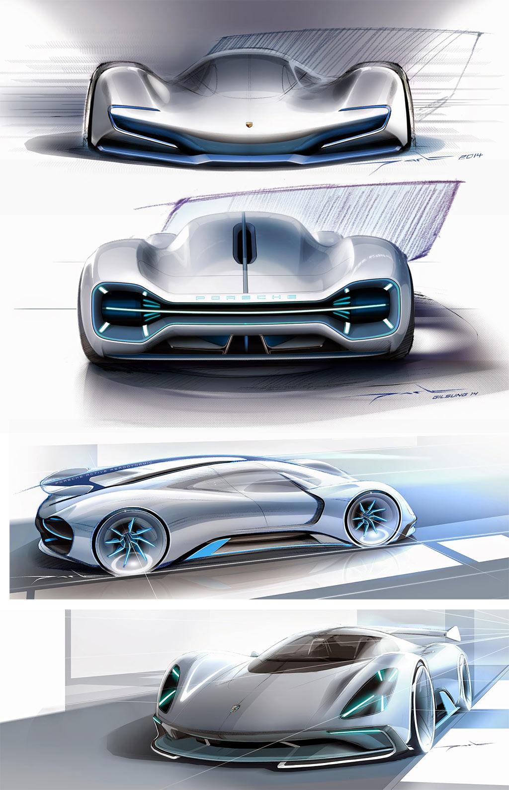 porsche electric le mans 2035 concept design sketches by. Black Bedroom Furniture Sets. Home Design Ideas