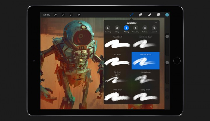 Procreate iPad app screenshot
