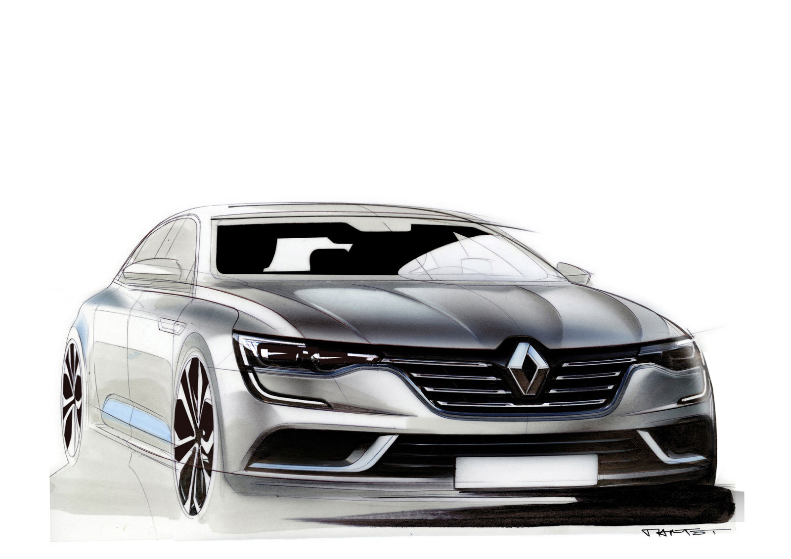 Renault Talisman Design Sketch By Alexis Martot Car Body